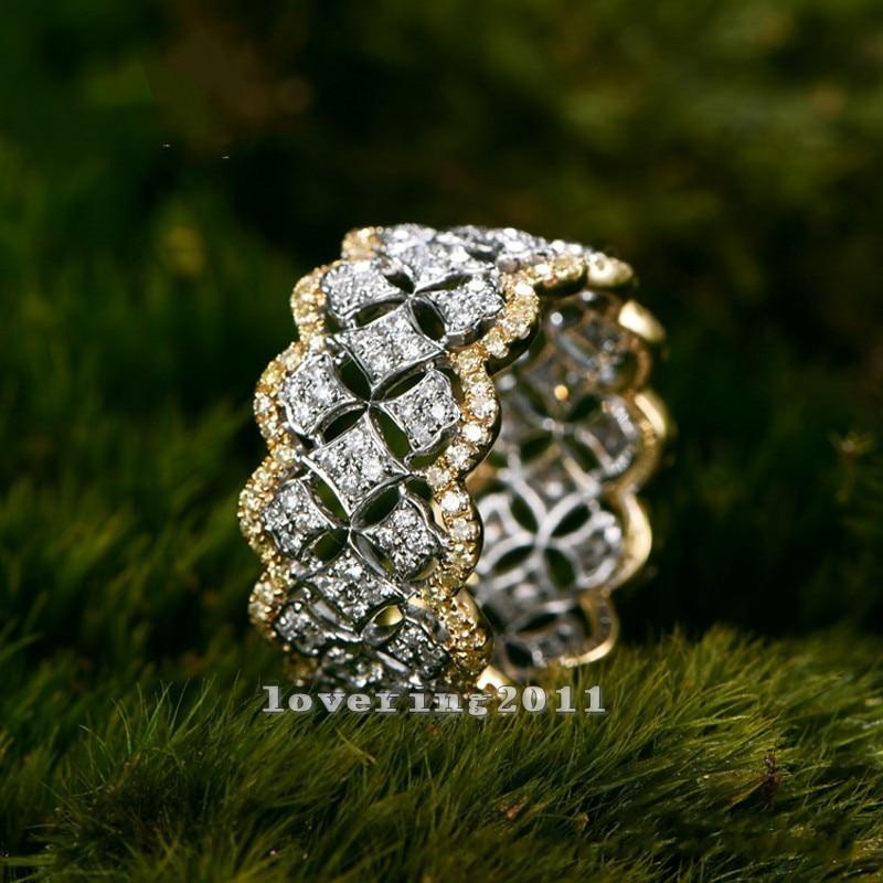 Size5-11 Stunning Unique Desgin Mewah Perhiasan 214Pcs AAA CZ 925 - Perhiasan fesyen - Foto 5