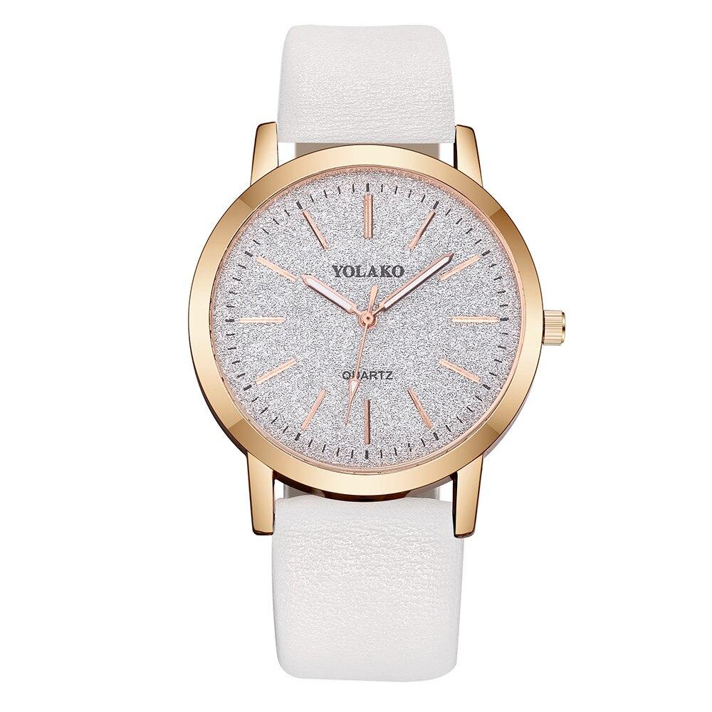 Женские часы Лидирующий бренд Модные женские простые часы Zegarek Damsk iLeather Аналоговые кварцевые наручные часы saat подарок