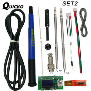 Image 2 - QUICKO controlador Digital de temperatura T12 STC OLED, estación de soldadura de hierro, panel de pantalla de soldadura aplicable a puntas HAKKO T12