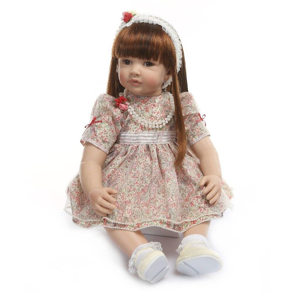 ビッグサイズ 60 センチメートルリボーン幼児ガールプリンセス手作り笑人形シリコーンビニール愛らしい Bonecas ガールキッド bebes リボーン 6 9Msurprice  グループ上の おもちゃ & ホビー からの 人形 の中 3