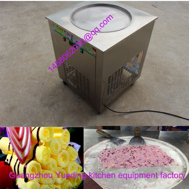 flat pan fried ice cream frozen yogurt vending machine for small home business ce fried ice cream machine stainless steel fried ice machine single round pan ice pan machine thai ice cream roll machine
