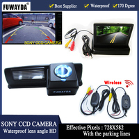 Wrieless LED Night Vision Waterproof Color HD CCD Car Rear ViewReverse Camera For Toyota HARRIER ALTEZZA