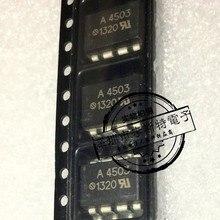 Enviar livre 50 PCS HCPL-4503 A4503 SMD SOP-8 optocouplers novo original