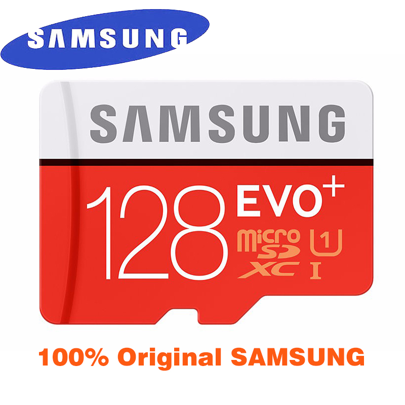 Prix pour 100% D'origine SAMSUNG Carte Micro Sd 128 GB Carte Mémoire EVO Plus 128 GB Class10 TF Carte 128 GB C10 80 MB/S SDHC SDXC UHS-1