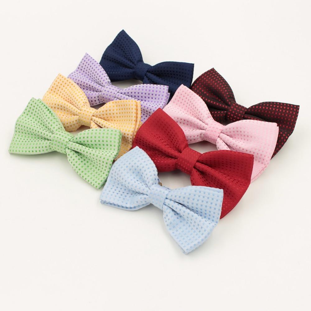 Damen-accessoires Kinder Bogen Krawatten Baumwolle Ebene Gefärbt Solide Jungen Mädchen Bowtie Party Zubehör Männer Einstellbare Formale Hochzeit Schmetterling Krawatte