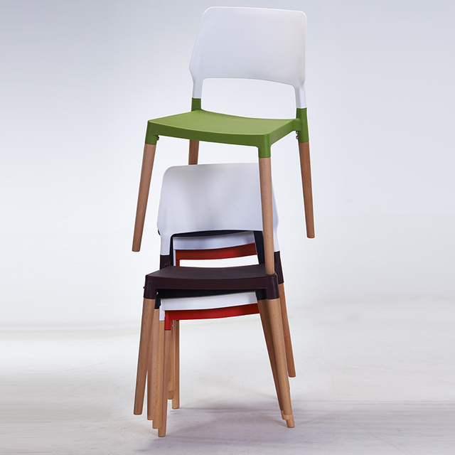 Nordic wood plastic chair back of a chair, contemporary and contracted fashion leisure chair, chair coffee