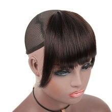 Bybrana черные прямые 3 зажима Remy тупые челки с висками подметания боковая челка передние волосы бахрома бразильские человеческие волосы