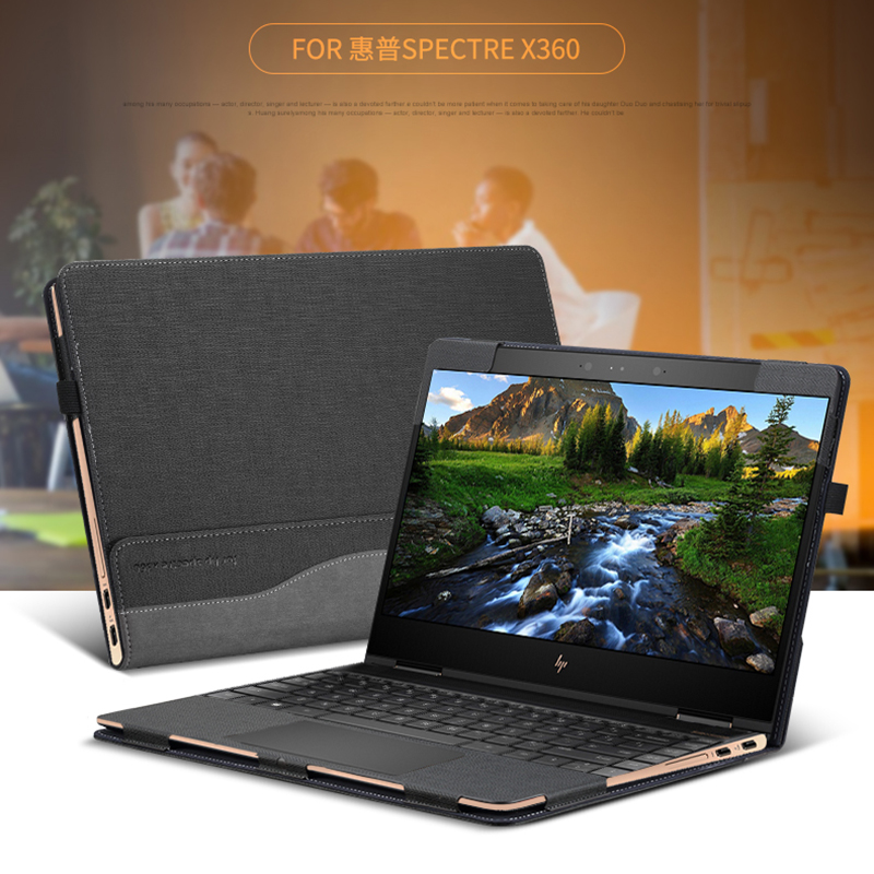"New Creative Design Case Only For Hp Spectre X360 13.3"" Laptop Sleeve Case PU Leather Protective Cover Gift(China)"