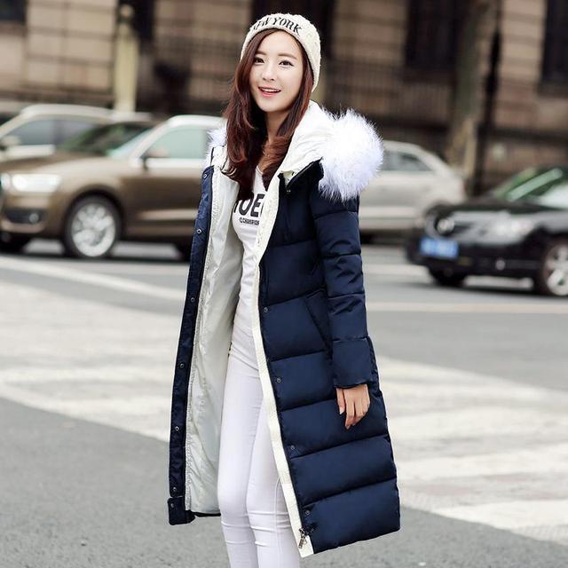 Chaqueta de invierno de Las Mujeres de Invierno Y El Otoño de Desgaste de Alta Calidad Parkas Chaquetas de Invierno Outwear Mujer Abrigos Largos