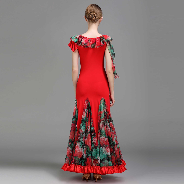 Мэй YU 1728 современный танцевальный костюм для женщин дамы гофрированные вальцинг Танго танцевальное Платье Бальный костюм вечернее платье