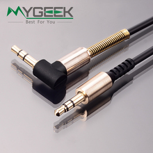 MyGeek 1M 3.5mm jack audio cable 3.5mm male to male 90 degree right angle flat aux cable for car / PM4 PM3 / headphone aux cord