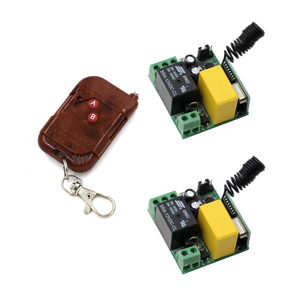 AC220V Wireless Remote Control Switch Relay Module Remote Transmitter + 2Pcs Receivers For Home Lamp Light LED Bulb ac 250v 20a normal close 60c temperature control switch bimetal thermostat
