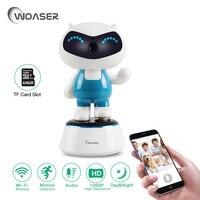 WOASER 1080P Robot IP Camera Phone APP Control PTZ HD Wireless WiFi Baby Monitor Support TF