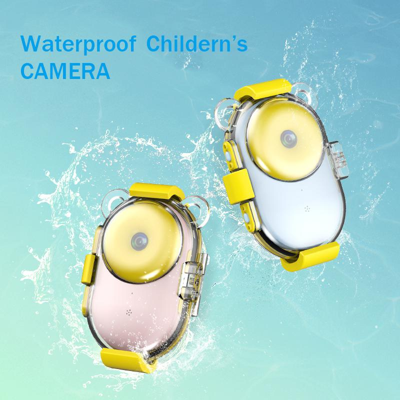 Mignon beignet vidéo enfants HD couleur Image dessin animé enfants appareil photo numérique étanche jouet enfants caméra jouets