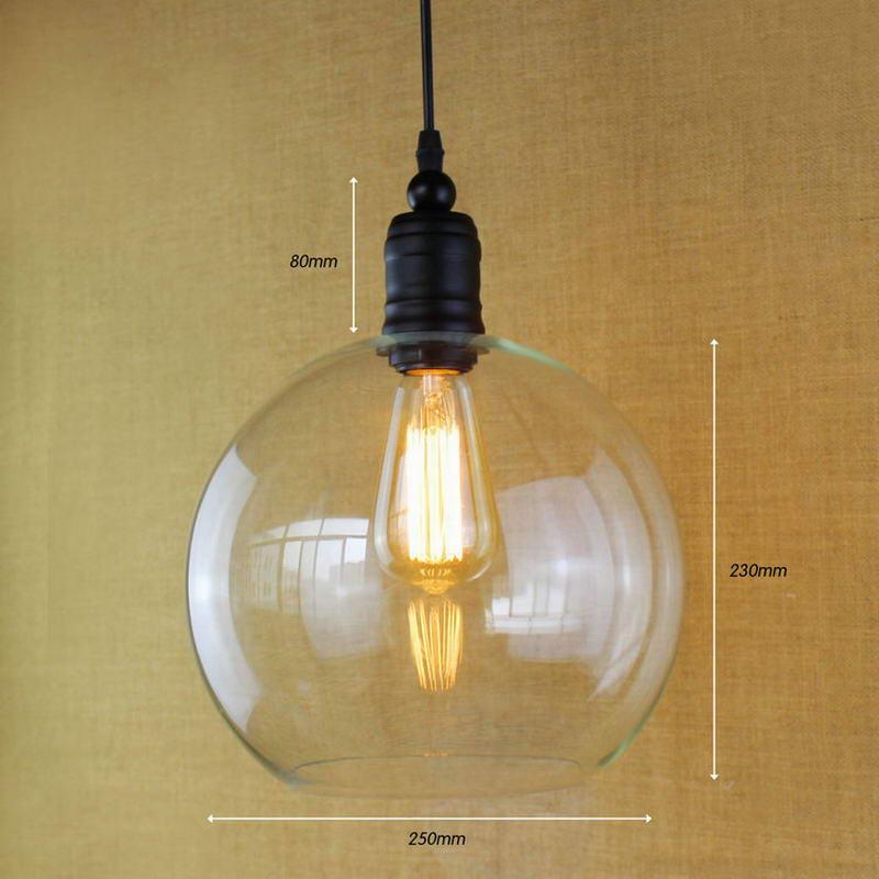 Europeo dell'annata del pendente luci di ferro bianco di vetro appeso campana lampada con la lampadina Edison Luce del pendente Luci Della Cucina Luci Armadio - 2