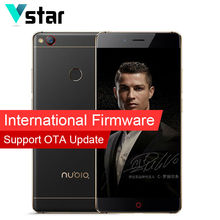 International Firmwar 5.5 inch Nubia Z11 Borderless 6G RAM 64G RAM NFC Cell Phone Snapdragon 820 Quad Core LTE Android 16MP NFC