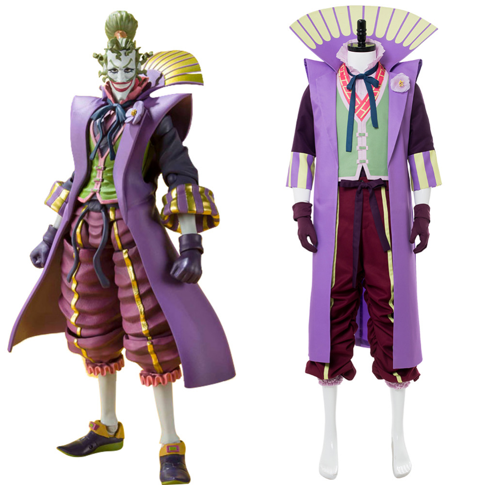 Batman Ninja Joker Cosplay Costume Halloween Ninja Batman Joker Cosplay Japanese Style Costume Adult