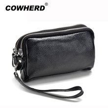 Clutch Wristlet Women Purse Small-Bags Genuine-Leather Zipper Coin ANS-SL-1006 Lady New-Arrival