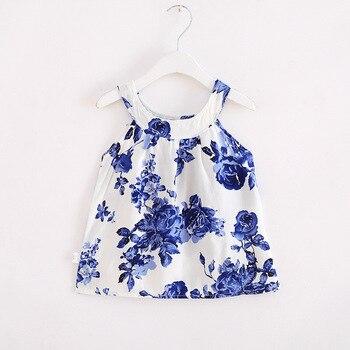 Baby Girl Dress Summer Kids Dress For Girls Clothes Fruit Printed Princess Sleeveless Sling beach princess Dresses 1