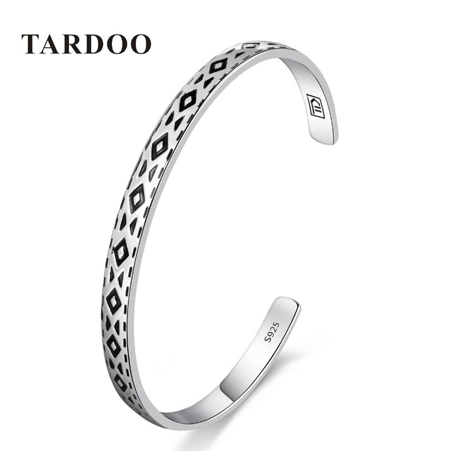 04e3038e7 Tardoo Genuine 925 Sterling Silver Bangles&Bracelets for Women round  triangle Design Classic Style Full Cuff Bangle
