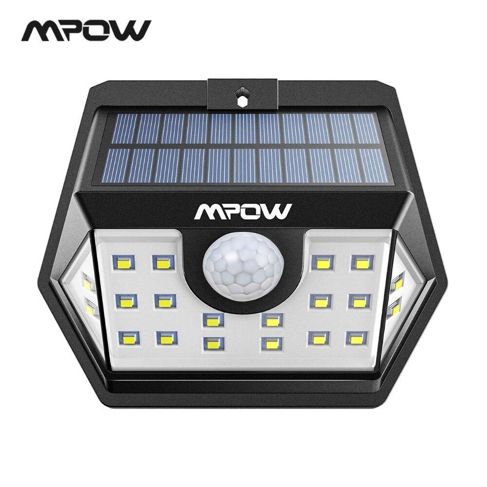 Mpow CD149 20 LED Solar Licht Super Helle Lichter Wasserdichte Outdoor Lampe Mit Sensitive Motion Sensor Für Garten Garage Pathway