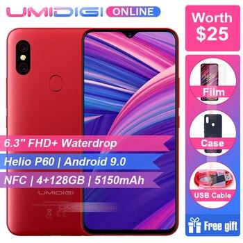 UMIDIGI F1 6.3 19.3:9 Waterdrop FHD+ Helio P60 Android 9.0 4GB RAM 128GB ROM 5150mAh 18W Fast Charge Smartphone NFC 16MP Phone laser virtual keyboard