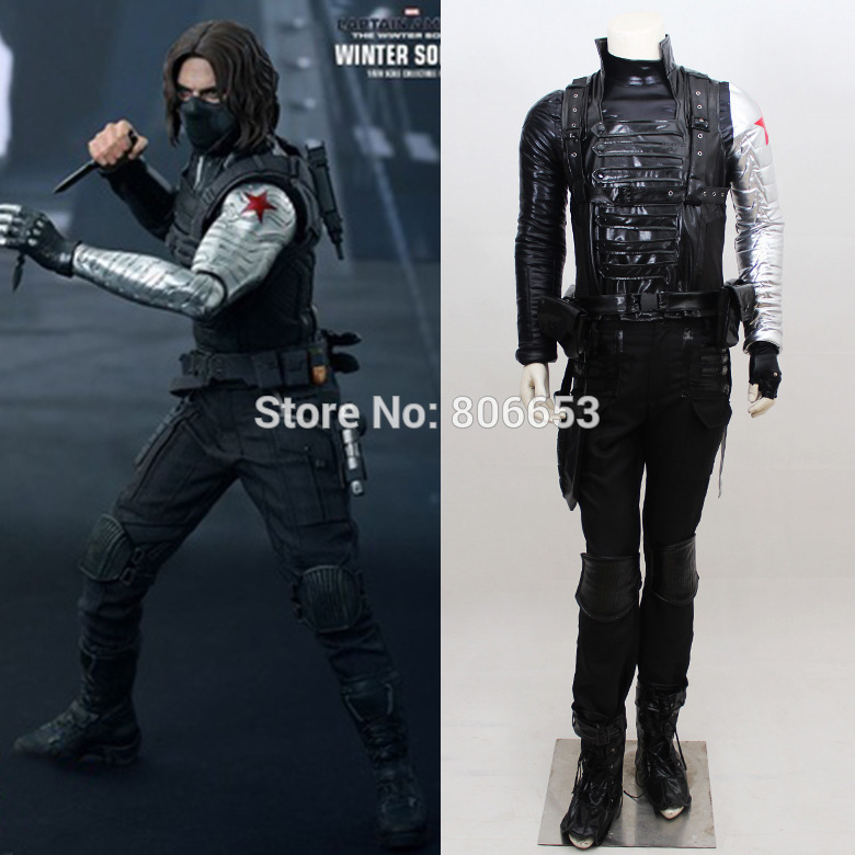 Captain America Winter Soldier Bucky Barnes Costume Outfit