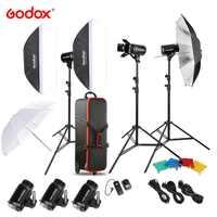 DHL Godox E300 300W Kit de luz estroboscópica para estudio fotográfico con soporte de luz Softbox disparador de puerta de Granero