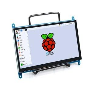 Image 2 - 7 Pollici Raspberry Pi 3 Modello B + Lcd Display Touch Screen a Cristalli Liquidi 1024*600 Hdmi Monitor Tft + cassa Del Supporto per Raspberry Pi 3