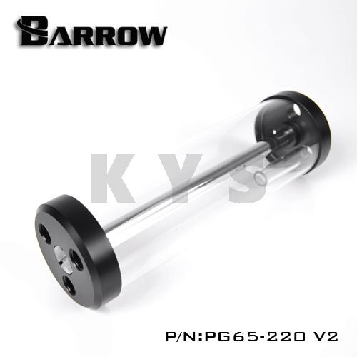 Barrow PG65 V2 65mm Glass Transparent Reservoir Tank 220 220mm projector lamp bulb an xr20l2 anxr20l2 for sharp pg mb55 pg mb56 pg mb56x pg mb65 pg mb65x pg mb66x xg mb65x l with houing