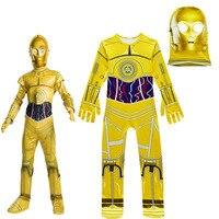 Kids Cosplay Costumes Boys Jumpsuits Star Wars Movie Robot Cosplay Children Festive Party Supplies Kids Robot
