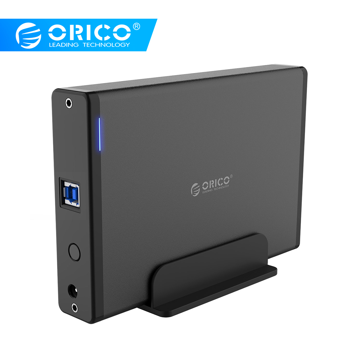 ORICO Aluminum Hard Drive HDD Enclosure USB3.0 To SATA3.0 3.5 Inch HDD Case Docking Station Support UASP 12V2A Power(China)