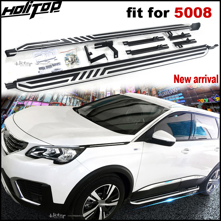 цена New arrival running board side step side bar Pedal for Peugeot 5008.thick aluminum alloy.ISO9001 quality,free shipping to Asia.