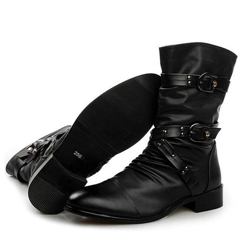 Fourrure Noir Vintage Qualité 44 37 Chaussures Cuir Taille De À Éclair Lebaluka Hommes L'intérieur Réel Bottes Des D'hiver Fermeture Haute En Mode Quotidienne xqRf4Bw7