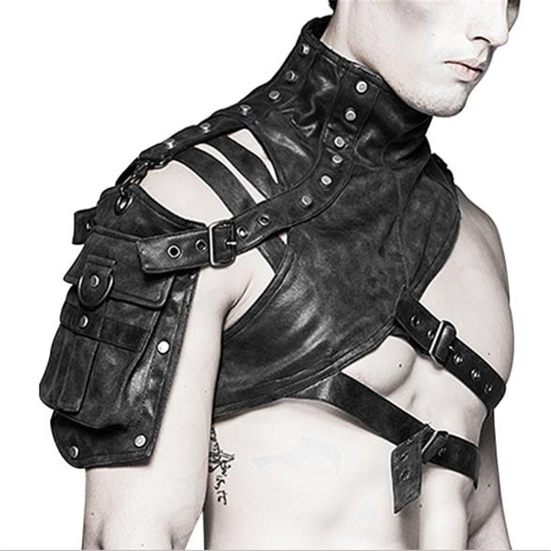 Leather Armor For Men And Women Shoulder Bag Accessories Show Locomotive Party Props 4