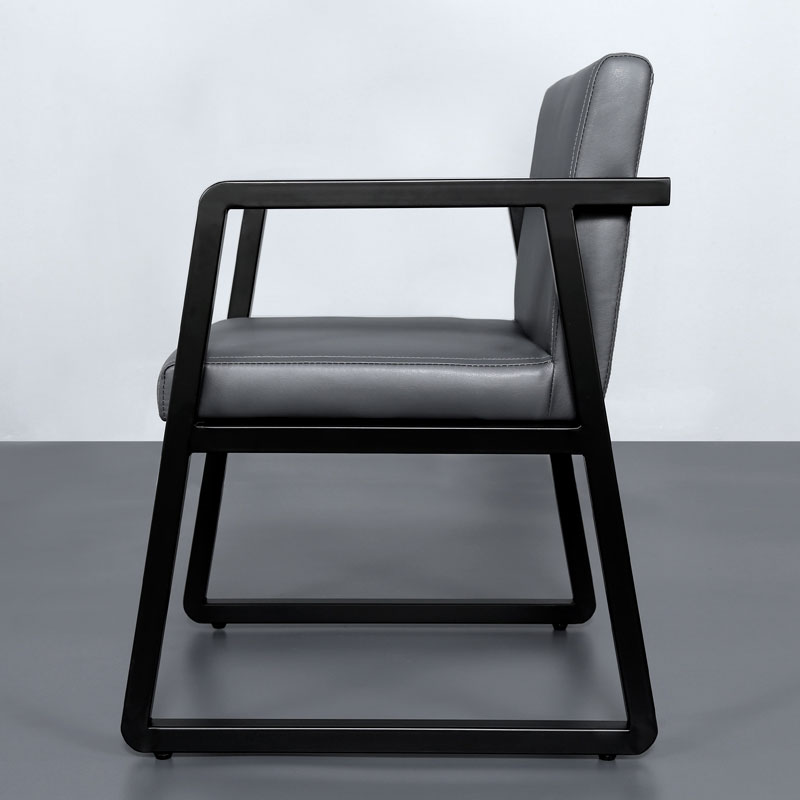 Backrest Dining Chair Leather Soft