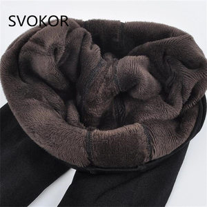 Image 1 - SVOKOR Warm Leggings Two Pieces Of Ultra Low Price Big Size Women Autumn Winter High Elasticity And Good Quality Thick Velvet