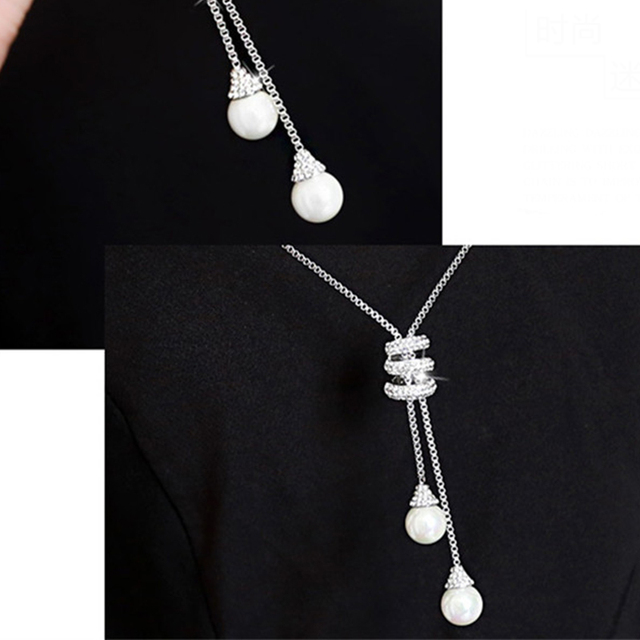 Crystal Beads Pendant Necklace