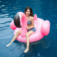 Inflatable Flamingo Pool Float White Swan Unicorn Ride On Swimming Ring Adults&Children Water Holiday Party Toys Piscina 150CM