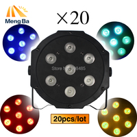 Wireless Remote Control LED American DJ LED SlimPar 7x12W RGBW 4IN1 Wash Light Stage Lighting