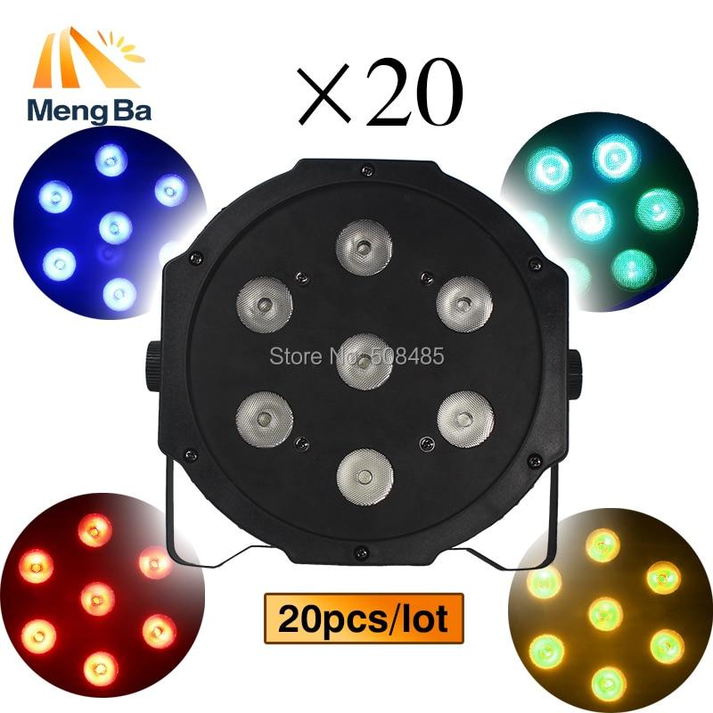 20pcs/lot 7x12w led Par lights RGBW 4in1 par led lamp dmx disco lights professional stage dj equipment Wireless remote control