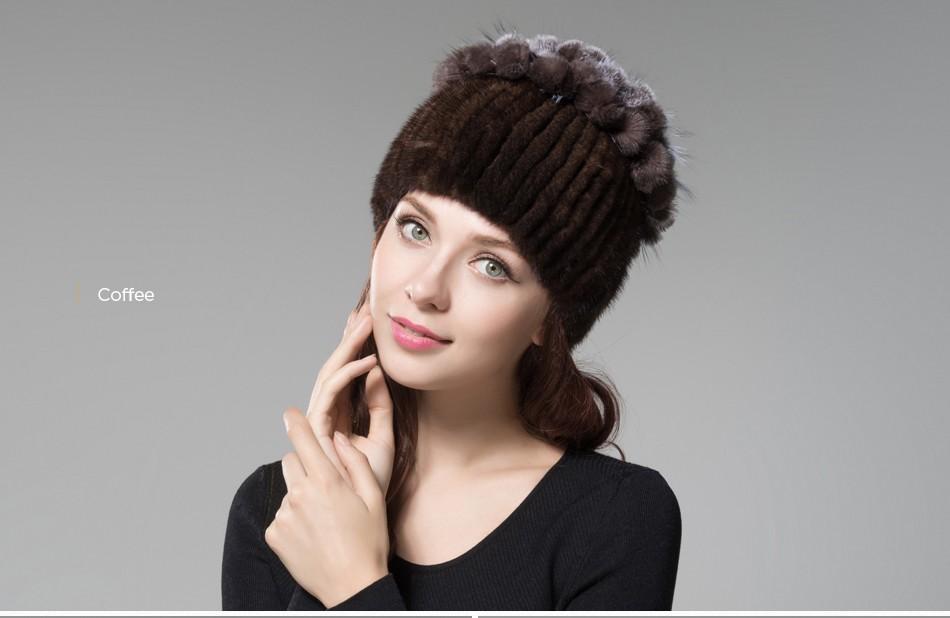 mink fur hats female winter PCM016 (21)