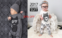 30% OFF Baby Boy Clothes Baby Clothing Set Rompers Long-Sleeved Letter T-shirt+pants Newborn Girl  2 Set Sell New Year For lady
