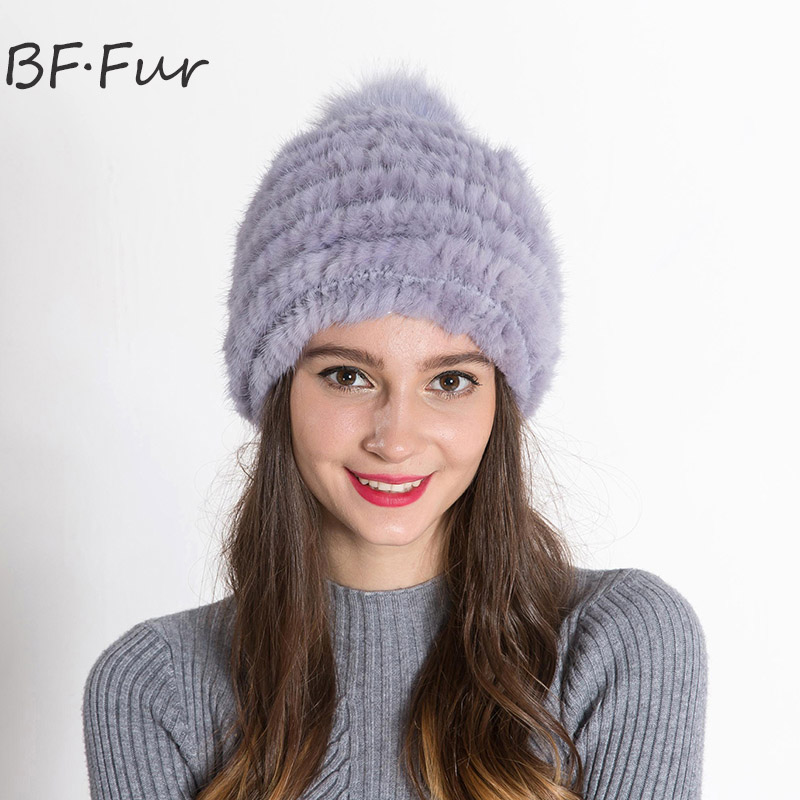 100% Animal Mink Fur Hat Female Winter Warm Russian Adult Bonnet Knitted Cotton Fashion Solid Color Cap Girls Warm Beanies russian real mink fur hat for female animal fur winter warm beanies fashion solid color cap natural color bonnet girls hats