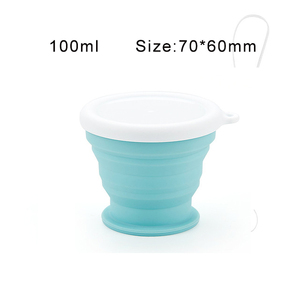 Image 4 - Portable Silicone Telescopic Drinking Collapsible Cup Folding Cups for Travelling