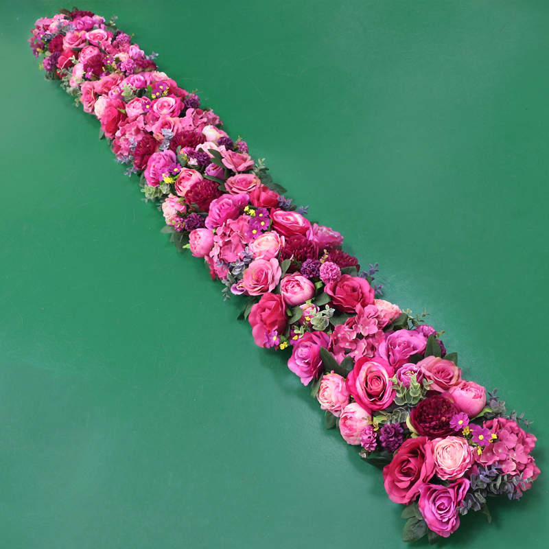 JAROWN Artificial 2M Rose Flower Row Wedding DIY Arched Door Decor Flores Silk Peony Road Cited Fake Flowers Home Party Decoration Maison (20)