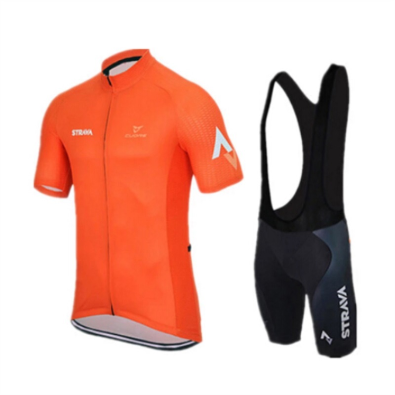 2018 strava team bicycle professional competition clothing mens summer short-sleeved quick-drying breathable shirt customized