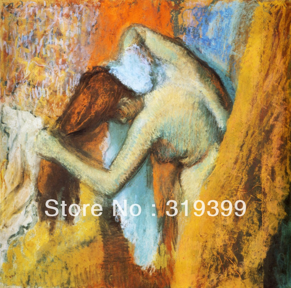 Oil Painting Reproduction on Linen Canvas,woman-at-her-toilette-1905 by edgar degas,Free DHL Shipping,100% handmade,oil paintingOil Painting Reproduction on Linen Canvas,woman-at-her-toilette-1905 by edgar degas,Free DHL Shipping,100% handmade,oil painting