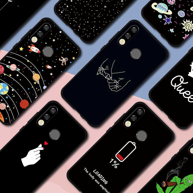 TPU Painted Case For Huawei P30 Lite P30 Pro Soft Silicone Black Case Cover For Honor 10 9 Lite 10i 20i V20 View 20 8X Max 10 8S