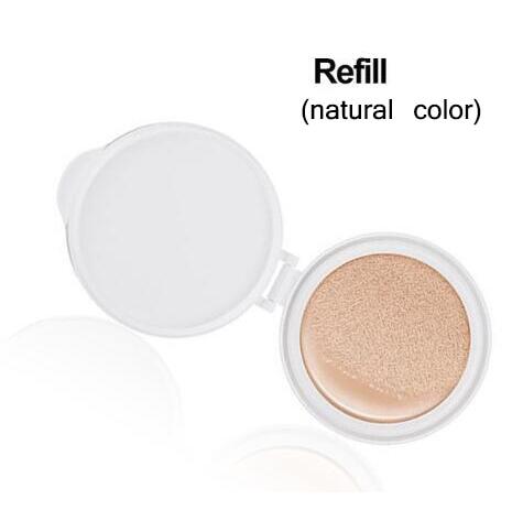 Солнцезащитный крем на воздушной подушке BB CC Крем-корректор увлажняющий тональный крем отбеливающий макияж голый для лица красивый макияж корейская косметика - Цвет: Refill NATURAL